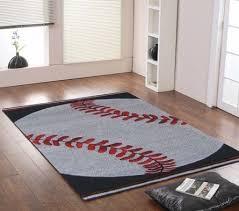 Kinderloom Baseball Star Rug Patterned Rugs Rugs For Boys Baseball Room Baseball Rugs Modern Kids Rugs