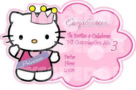 Imagen Invitacion Hello Kitty Invitaciones Epve Bsf Cumpleanos