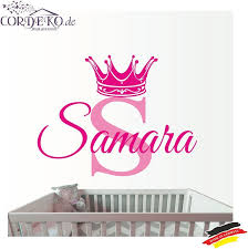 crown name wall decal 2 colors custom