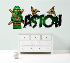 Amazon Com Kapowboom Graphics Lego Ninjago Lloyd Personalized Customized Children S Wall Sticker Decal Art Mural Bedroom 3 Size Options Small 72cm Wide Home Kitchen