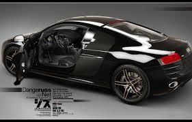 wallpaper audi r8 v10 3d car black