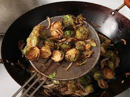fried brussels sprouts with shallots