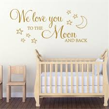 We Love You To The Moon And Back Art Deco Decoration Home Decor Children Room Wall Decal Cartoon Vinyl Wall Stickers Vinyl Wall Decals Vinyl Wall Decals Kids From Joystickers 10 76 Dhgate Com