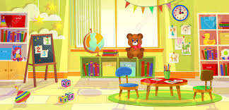 Kids Playroom Kindergarten Child Apartment Game Classroom Learning Royalty Free Cliparts Vectors And Stock Illustration Image 121811055