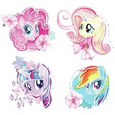 Room Mates My Little Pony The Movie Watercolor Peel And Stick Wall Decals Wayfair