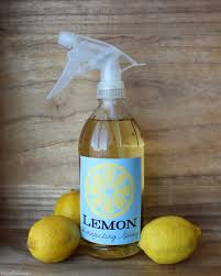 lemon infused disinfectant spray