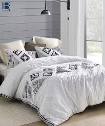 navy blowout textured king comforter