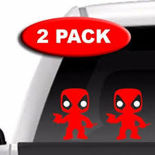Comic Figures Marvel 2 Pack Vinyl Decal Mini Deadpool Car Toys Auto Parts And Vehicles Car Truck Graphics Decals Soluzioneimmobiliare Net
