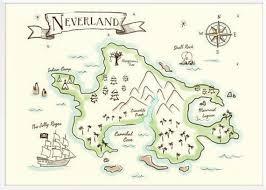 Neverland Map 16x20 Digital Download Etsy