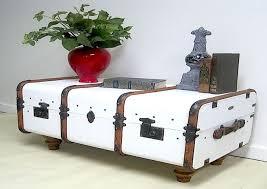 coffee table stylized like suitcase