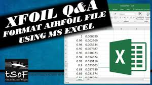 format an airfoil file using ms excel