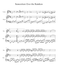 Somewhere Over the Rainbow Sheet music for Violin, Piano ...