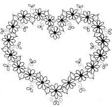 Hartje Met Bloemen Kleurplaten Valentijnen