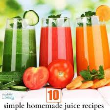 simple and tasty homemade juice recipes