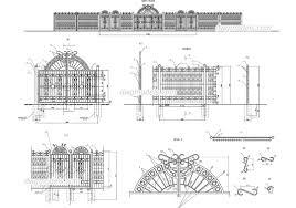 Fences Gates Dwg Models Free Download