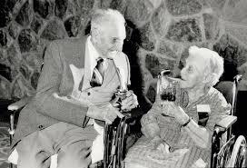 Quiet moment: Frank Pillsworth; 102; and Ada Clark; 102; enjoy a ...