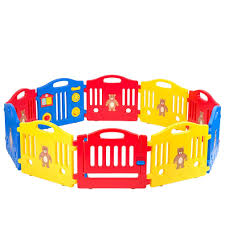 Baby Play Yard Baby Playpen Safety Play Yard Fence Activity Centre 10 Panel With Gate Door Home Indoor Outdoor Activity Cente Walmart Com Walmart Com