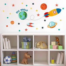 Universe Kids Room Space Theme Wall Sticker Decal Art For Sale Online