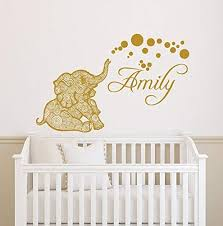 Amazon Com Donl9bauer Girl Name Wall Decals Elephant Wall Decal Safari Nursery Vinyl Sticker Personalized Decal Elephant Nursery Wall Decal Name Sticker Lt2 Home Kitchen