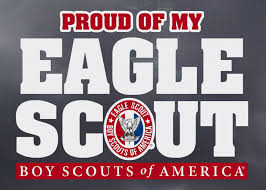 Proud Of My Eagle Scout Decal Boy Scouts Of America