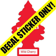 Red Little Trees Decal Overlay Wild Cherry Scent Option Vending Machine Overlay Kleen Rite