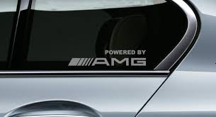 Product 2 Powered By Amg Mercedes Benz Racing Decal Sticker Window