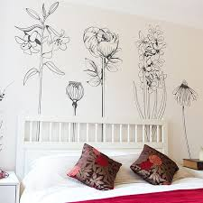 Large Decorative Vinyl Flower Wall Sticker Decals Pack 1 In 2020 Wall Decals For Bedroom Flower Bedroom Wall Decor