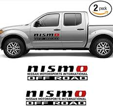 Amazon Com 2x For Nissan Nismo Off Road Side Vinyl Decal Graphics Sticker Kit Black Automotive