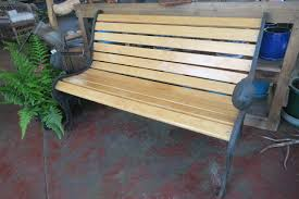 classic cast iron timber bench seat