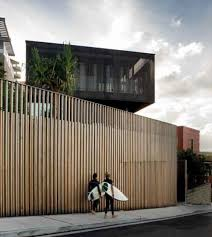 Tall Wooden Fence Freshwater House Architecture Exterior Modern Fence Design Modern Fence