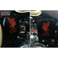 Liverpool Fc Logo Stickers Decal Pair Of 2 Flipped Stickers