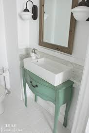 jessica s gorgeous narrow half bathroom