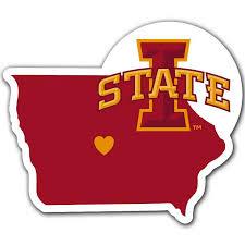 Iowa State Cyclones Home State Vinyl Auto Decal Ncaa Iowa Shape Fanaticsworldwide