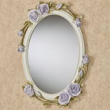 rose melody purple fl oval wall mirror