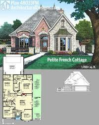 plan 48033fm petite french cottage