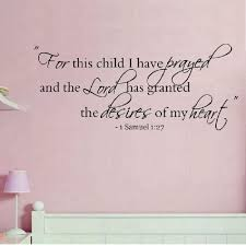 1 Samuel 1 27 For This Child I Have Prayed Vinyl Wall Decal Etsy Vinyl Wall Decals Wall Decals Inspirational Wall Decals