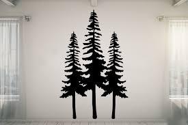 Loon Peak Tall Pine Trees Vinyl Wall Decal Wayfair