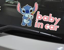 Pokemon Car Decal Pikachu Baby On Board Girl Pokemon Baby Decal Bumper Sticker