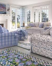 blue gingham padded armchair design