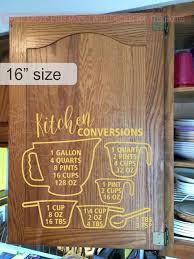 Kitchen Conversion Measurement Chart Wall Stickers Vinyl Decor Decals