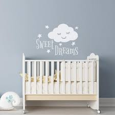 Sweet Dreams Nursery Wall Decal Sleep Wall Decal Sweet Etsy In 2020 Nursery Wall Decals Dream Nurseries Star Wall Decals