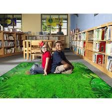 Shop Flagship Carpet Kids Nylon Rainforest Frogs Classroom Seating Rug 7 6 X 12 7 6 X 12 Overstock 27543251