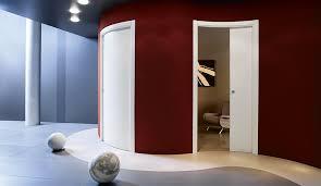 eclisse curved pocket door