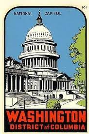 Vintage Washington Dc National Capitol Souvenir State Travel Car Window Decal Ebay