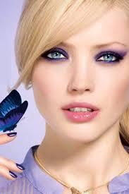 green eyes using purple shades