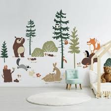 Woodland Animal Friends Playroom Wall Decal