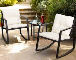 patio furniture set rocking wicker