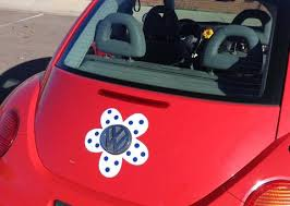 Vw Beetle Flower Magnetic Decal Gray Flowers Bling My Bug