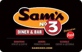 sam s no 3 diner and bar gift card
