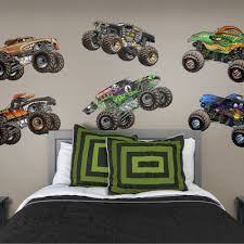Fathead Monster Jam Cartoon Trucks Collection X Large Officially Licensed Removable Wall Graphics Walmart Com Walmart Com